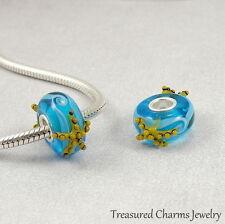 Starfish Beach Lampwork Glass Large Hole Bead Charm fits European Bracelets