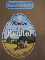 HARBAE BREWERY VINTAGE  HARVESTER DANISH BEER LABEL