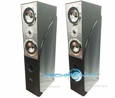 "PAIR DIGITAL AUDIO 10"" 1400 WATTS HOME THEATER FLOOR-STANDING TOWER OAK SPEAKERS"