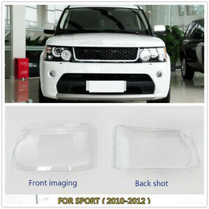 L+R Headlight Clear Lens Cover Shell For Land Rover Range Rover Sport 2010-2012