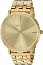 Nixon Men's Porter A1057502-00 40mm Gold Dial Stainless Steel Watch