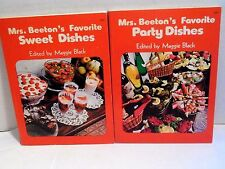 Cookbook LOT Mrs Beetons Favorite Party AND Sweet Dishes Parties Drinks MORE