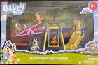 BLUEY Deluxe Park Playset - See Saw, Swing - Bingo Rusty Bluey Indy Potaroo  NEW