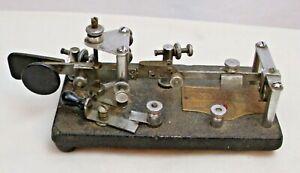 VIBROPLEX TELEGRAPH MORSE CODE HAM RADIO KEYER 1930s CHROME ART DECO