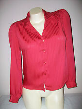 Women's SO WHAT! Of California Red Striped Long Sleeve Top