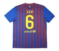 Barcelona 2011-12 Authentic Home Shirt Xavi #6 (Excellent) XL Soccer Jersey
