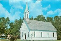 Rockville Parke County Indiana~Old St Josephs Church~Horse Wagon~1960s Postcard