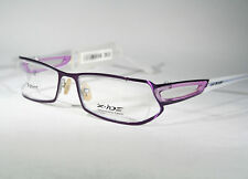 Wild X-IDE 'Stanley' Cool Unique Glossy Purple Partially Rimless Glasses Frames