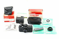 [Exc] Pentax Auto110 SLR Film Camera w/ 24mm, AF130P Flash, Case from Japan