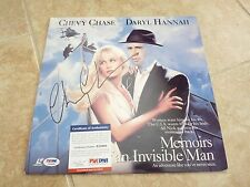 Chevy Chase Memoirs Invisible Man Laser Disc Signed Autographed LP PSA Certified