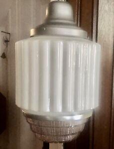 RARE Antique Art Deco Skyscraper Wedding Cake Light Fixture Original   RESTORED