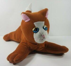 Vintage Tonka Pound Pur-r-ries brown white kitty 13 in Cat plush stuffed animal