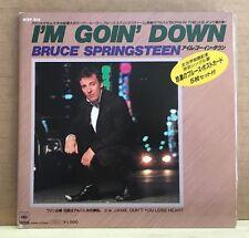 BRUCE SPRINGSTEEN I 'M GOIN' DOWN 1985 Japanese Vinyle Single Gatefold + POSTCARDS