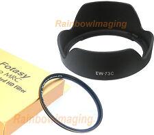 Lens Hood as EW-73C & 67mm MRC UV Filter for Canon EF-S 10-18mm f4.5-5.6 IS