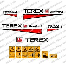 Terex Albert Benford Roller TV1300 Decalcomanie Adesivi