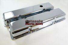 Small Block Chevy 283 305 327 350 383 400 Chrome Cast Aluminum Valve Cover SBC