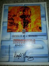 ICONS Terminator 2 Judgement Day ENDO-SKULL ORIGINAL COA Paperwork Prop Replica