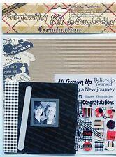 Scrapbooking Kit 8 x 8 Plus Embellishments 20 pieces GRADUATION Theme New In Pkg