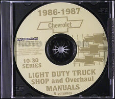 1987 Chevy Truck CD Shop Manual Pickup Blazer Suburban Van Silverado Chevrolet