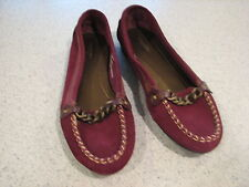 *SONOMA MELANIE BERRY / PLUM SUEDE LOAFERS SIZE 8.5 M