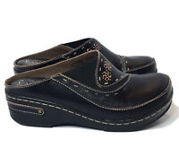 L'Artiste by Spring Step Chino Mules Clogs Size 37 US 6.5 - 7 Black