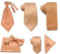 Peach pink Collection Woven Paisley Jacquard Knitted Satin Tie Wedding lot