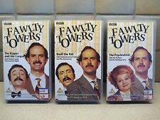 3x FAWLTY TOWERS VHS VIDEO TAPES KIPPER & CORPSE / BASIL THE RAT / PSYCHIATRIST