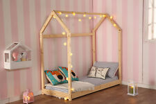 Twin Size Bedroom Furniture Premium Wood Children House Bed Frame Tent Bed