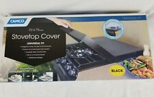 NEW NIB Camco 43554 Universal Fit RV Stove Top Cover Black Trailer Camper Part