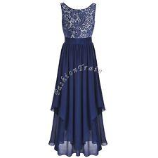 Women's Elegant Sleeveless V-Back Evening Party Cocktail Bodycon Long Dress XL