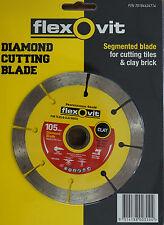 "Diamond Wheel Segmented Rim 4"" 105mm 20/16mm Bore Flexovit"