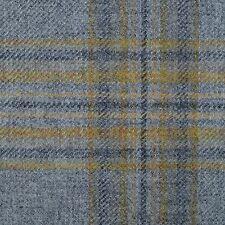 Light Grey with Mustard & Dark Grey Multi Check Tweed - 2.50 Mtrs