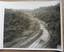 WWII BURMA PHOTO - NEWLY CONSTRUCTED PORTION of the LEDO ROAD 1944