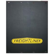 Freightliner 24 x 30 Black / Yellow Logo Poly Mudflap Set - (Pair)
