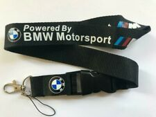 BMW Motorsport Lanyard NEW Black UK Seller Keyring ID Holder Strap Car Logo