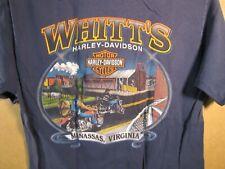 Harley Davidson T-Shirt Whitt's H-D Manassas Virginia  Size M  Blue