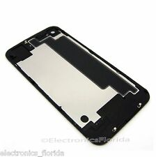 Black iPhone 4S Back Glass Rear Case Door Battery Cover Replacement