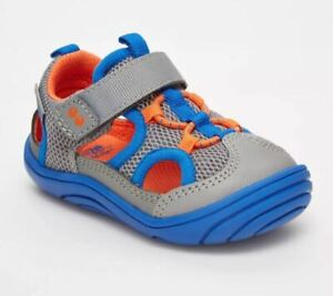 New Infant Boys Blue & Gray Surprize Stride Rite Erin Sneakers Shoes Size 4