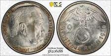 Nazi Germany 1938-G 2 Mark with Swastika, KM-93, PCGS MS64, better date