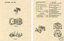 Transformers HOUND US Patent Art Print READY TO FRAME! 1985 Ohno Autobot Jeep