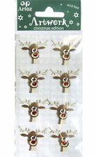 Christmas Rudolf Reindeer Head stickers
