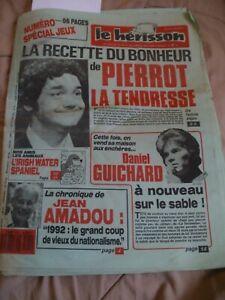 pierre perret/daniel guichard/depardieu/journal le herisson N°2174 DE DEC 1987