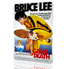 METAL SIGN Bruce Lee Game of Death Classic Poster Movie Decor Wall Art Pub Garag