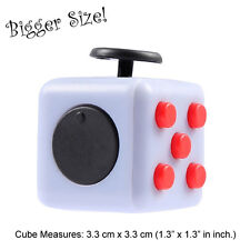 NY IN STOCK Fidget Cube Anxiety Stress Relief Better Focus Toys Gift BR&G Larger