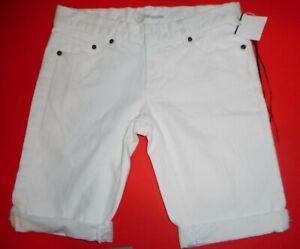 Bebe White Denim Jeans Shorts Waist 30 Size 27 M
