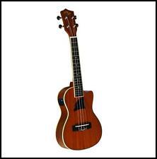 Eddy Finn Ukulele Tenor Acoustic / Electric Cut Away Uke Aquila Strings EF-7TE