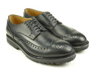 Prime Shoes Herrenschuhe Rahmengenäht Echtleder Budapester 852 Riso black Gr. 8