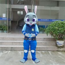 Cartoon Animals Judy Mascot Costume Suit Cosplay Party Fancy Dress Outfit Adults