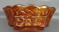 "Northwood SPRINGTIME Marigold Carnival Glass 8¼"" Master Berry Bowl 6745"