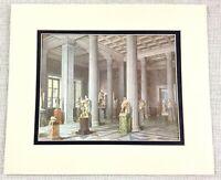1983 Vintage Stampa The Inverno Palazzo Greco Statua Gallery Russia Romanov